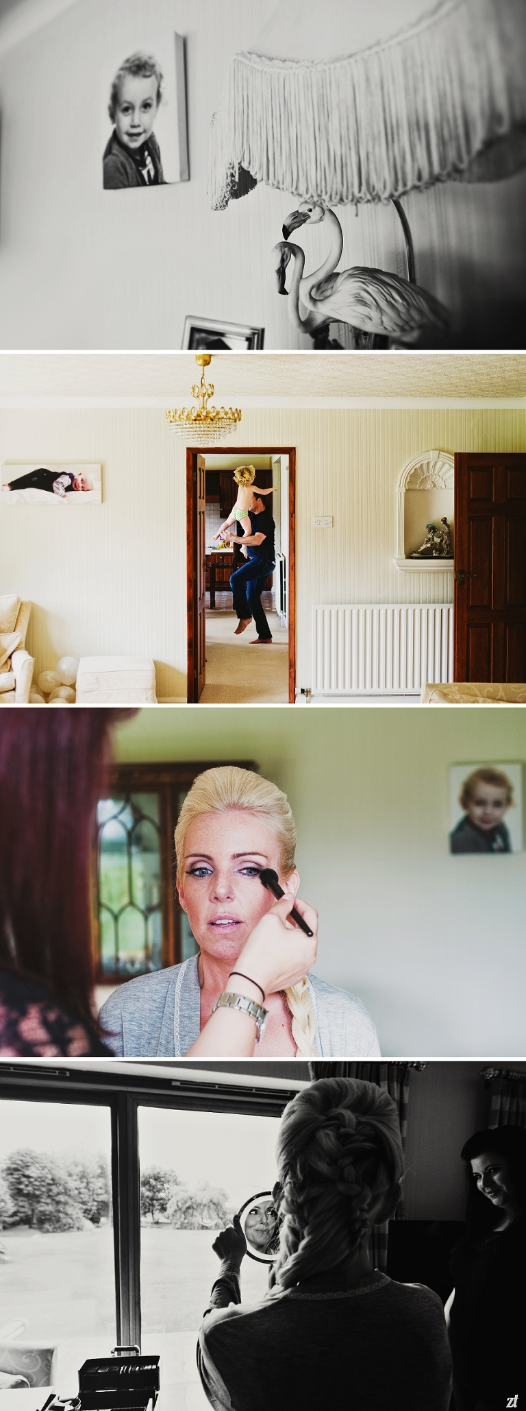 A Daenerys bride getting ready with Kerry Baker MUA for her Meols Hall wedding in Southport