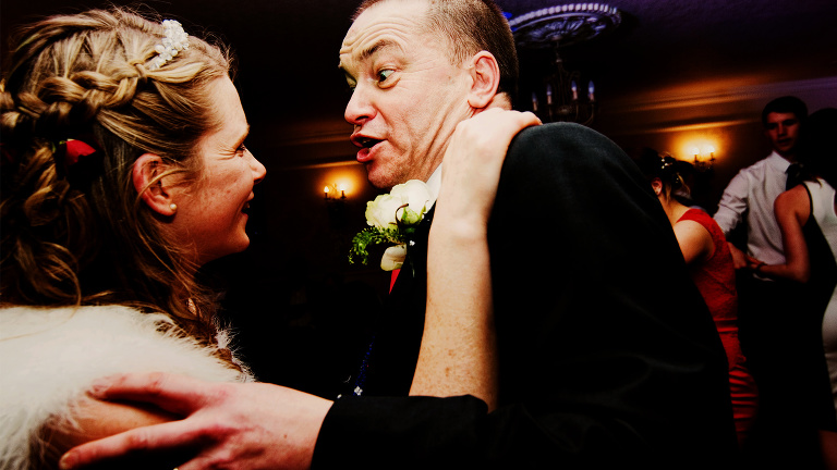Father of the bride dancing at Singleton Lodge Country House