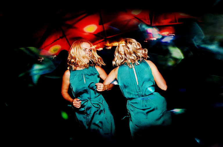 Bridesmaids partying at Lancashire wedding
