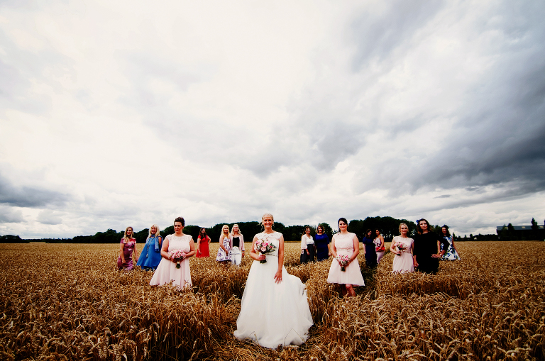 Hen party bridal photo at Bassmead manor barns
